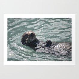 otter joy Art Print