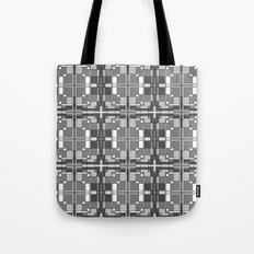 Black and White Cross Pattern Tote Bag