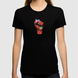 Bermuda Flag on a Raised Clenched Fist T-shirt