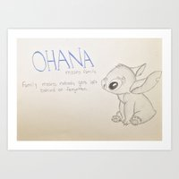 lilo and stitch Art Prints featuring Lilo and Stitch by Elyse Notarianni