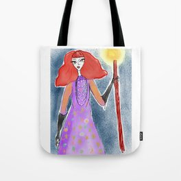 Groovy Queen of Wands Tote Bag
