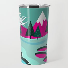 Monster Cat in the Mountains Travel Mug