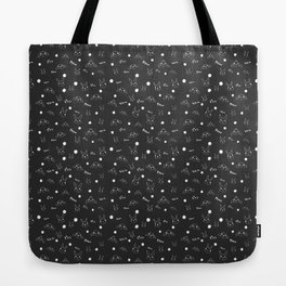 bunny and flower scatter Tote Bag