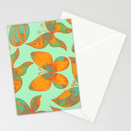 Hand Drawn Butterfly Pattern 01 Stationery Cards