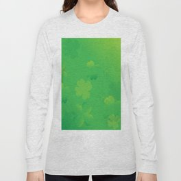 Glowing Shamrocks Long Sleeve T-shirt