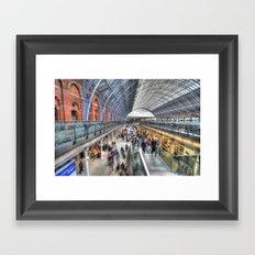 St Pancras On The Move Framed Art Print