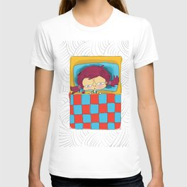 Sick in bed get well cute girl T-shirt