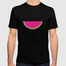 Watermelon print Black MEDIUM Mens Fitted Tee