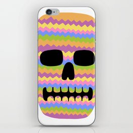 Zig-Zag Skull iPhone Skin