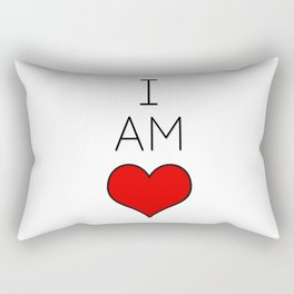 I Am Love. Rectangular Pillow