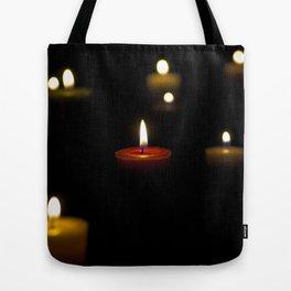 Dark candles Tote Bag