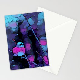 Junco Neon Pink Purple by CheyAnne Sexton Stationery Cards