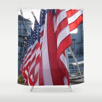 usa Shower Curtains featuring USA by MariahSmyth