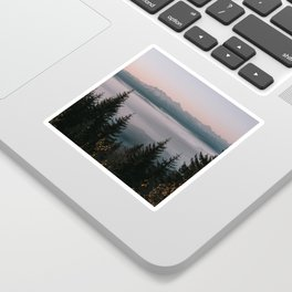 Faraway Mountains - Landscape and Nature Photography Sticker