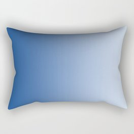 Blue to Pastel Blue Vertical Linear Gradient Rectangular Pillow
