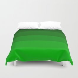 Irish Kelly Green Ombre Stripes Duvet Cover