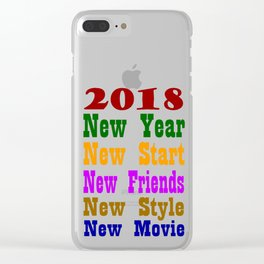 New year 2018 t-shirt 100 + sell Clear iPhone Case
