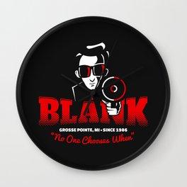 Mr Blank (Grosse Pointe Blank) Wall Clock