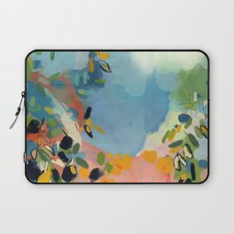 garden with sea view and olive tree Laptop Sleeve