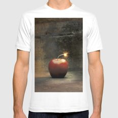 Apple bomb White MEDIUM Mens Fitted Tee