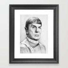 Spock Leonard Nimoy Portrait Framed Art Print