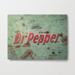 Vintage Rusty Dr Pepper Signage Metal Print