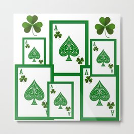 ACES HIGH LUCKY IRISH CASINO CARDS Metal Print