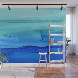 Alcohol Ink Seascape Wall Mural