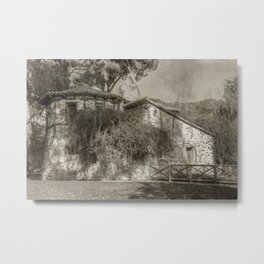 Cute old cottage Metal Print