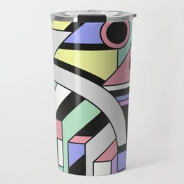 De Stijl Abstract Geometric Artwork Travel Mug