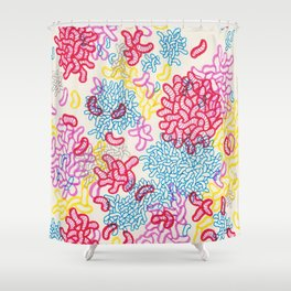 Party Painting Shower Curtain
