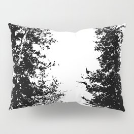 Colorado Pines Black and White Pillow Sham