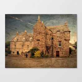 Fordyce Scotland Wee House Wood Effect Canvas Print