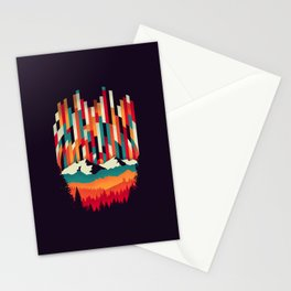 Sunset in Vertical Multicolor Stationery Cards