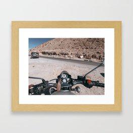 Bike Ride in Ladakh Framed Art Print
