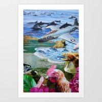 pilot Art Prints featuring Pilot by John Turck