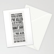 American Psycho - Patrick Bateman's Confession Stationery Cards