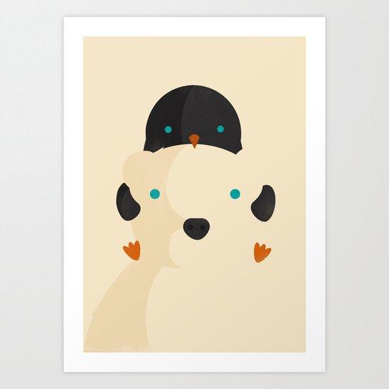 Snow Buddies Art Print