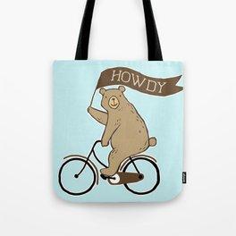 Friendly Neighborhood Bicycle Bear Tote Bag