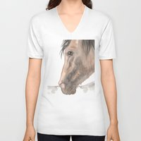 spanish V-neck T-shirts featuring Spanish by Bluedogrose