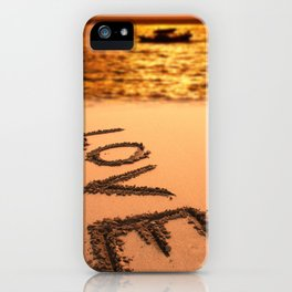 Love Written in the Sand iPhone Case