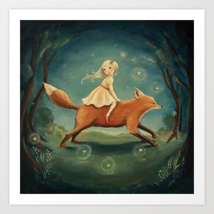 Fox Girl by Emily Winfield Martin Kunstdrucke