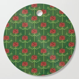 Spring Roses Pattern Cutting Board