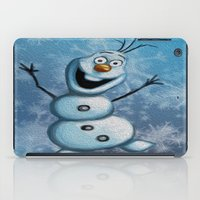 olaf iPad Cases featuring Olaf by MandiMccl