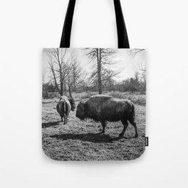 Bison black-and-white Photography | Nature | Animal | Minimalism Tote Bag
