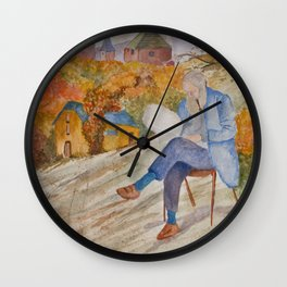 Looking through the Mirror Wall Clock