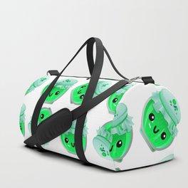 kawaii lime jam jar pattern Duffle Bag