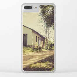 Hut on the road Clear iPhone Case