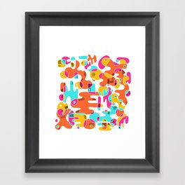 New wave 001 Framed Art Print