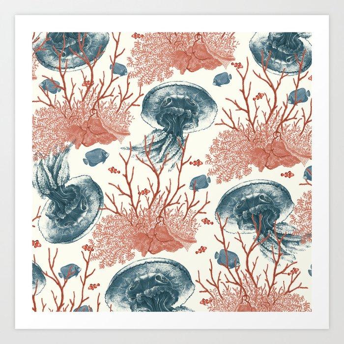 Aquatic Pattern Art Print